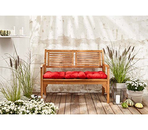 Dehner Klappbank Douglas, 2-Sitzer, ca. 119 x 62 x 90 cm, FSC Akazienholz, geölt, natur - 6