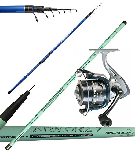 Pesca Canna Bolo Agon 6 Mt in Carbonio Canna Fissa 6mt Mulinello filo