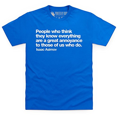 I Know Everything T-Shirt, Herren Royalblau