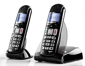 Sagemcom D27T Duo Téléphone sans fil Noir