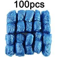 Deasengmins 100Pcs/Set Disposable Plastic Shoe Covers Rooms Outdoors Waterproof Rain Boot Carpet Clean Hospital Overshoes Shoe Care Kits