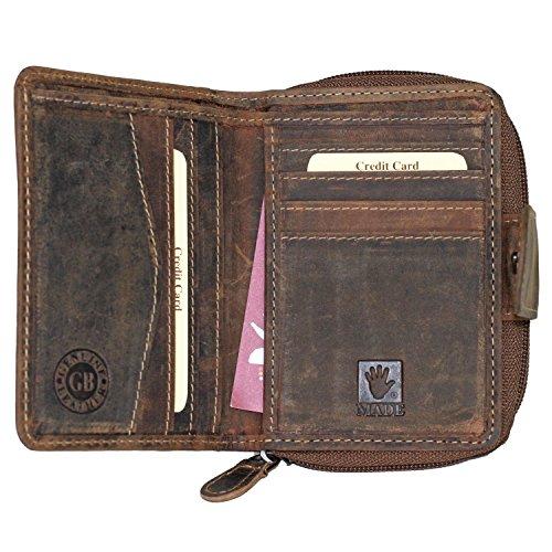 Greenburry 1792-25 VINTAGE Leder Portemonnaie | Handarbeit