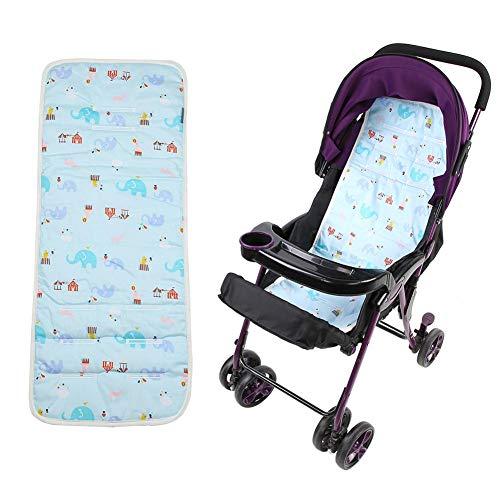 Cojín para cochecito de bebé, Alfombrilla Suave y cómodo algodón para para silla de paseo, Cojín de cochecito de bebé para niños Silla Asiento de cochecito de coche(Elefante azul)