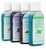 Saunaaufguss Sauna Duft Öl 4 Flaschen a 100ml mit natürlichen und naturidentischen Bestandteilen...