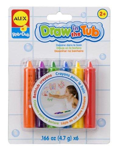 ALEX Toys Giochi nella vasca da bagno Pastelli nella vasca (6 colori) - Mega Crayon