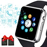 SmartWatch, Janker Bluetooth Smart watch Compatible Android IOS Phones with Camera/SIM Card Slot