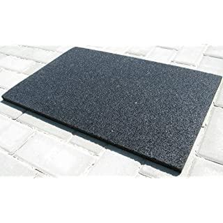 acerto Anti-Vibration Mat Made From Rubber Granulate 60 x 40 x 2 cm ? Especially Robust ? High Density ? Universal, Usable as Washing Machine Underlay, Rubber Mat, Floor Protection Mat, Anti-Fatigue Mat | Vibration-Damping Washing Machine Mat, Floor Mat