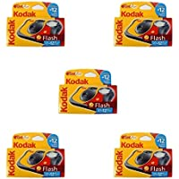 Kodak Fun Flash - Cámara desechable con flash (39 fotografías, 5 unidades)