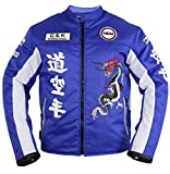 Herren Motorrad Textil Jacke in blau (3XL)