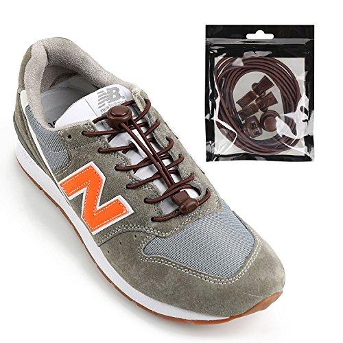 iPihsius Elastische Schnürsenkel ohne Binden für Kinder und Erwachsene Sneaker, Einheitsgröße, Braun, G30 (General)