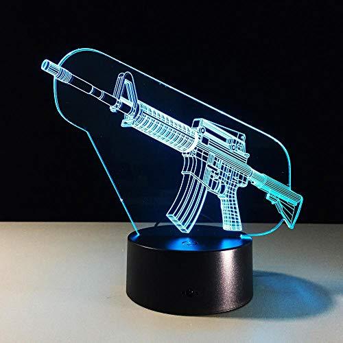 Ak Gun 3d LED Nachtlichter Lampara Escritorio Nachtlicht Batterie Nachtlicht Kinder Beleuchtung für unter Küchenschränke