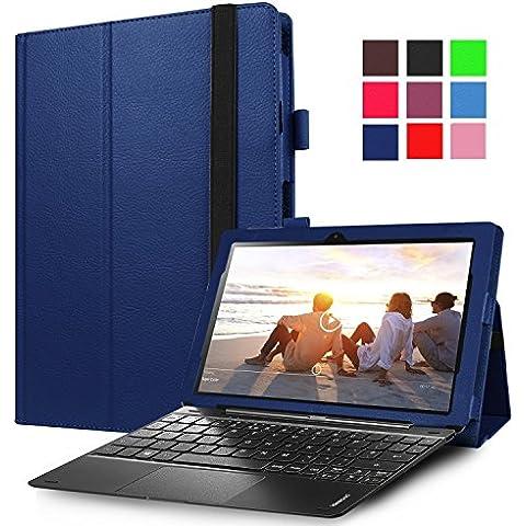 Lenovo Miix 310–Funda avidet alta calidad Slim-Book Funda de piel sintética con función atril para Lenovo Miix 310 azul azul