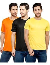 Grand Bear Round Neck Polyester T-shirt For Men Pack Of 3