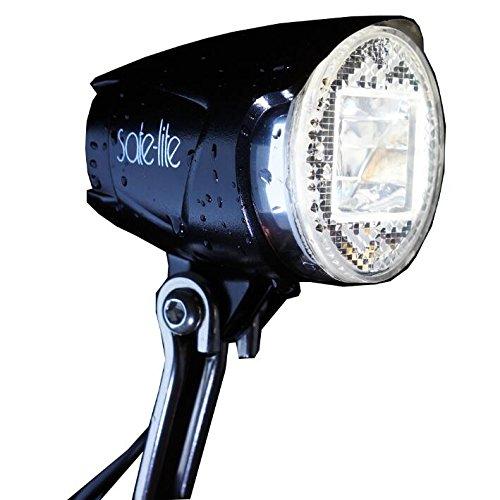 SATE-LITE LED Scheinwerfer ,StVZO zugelassen,40 Lux (400Lumen), Cree XP E2 für Nabendynamo und E-bike