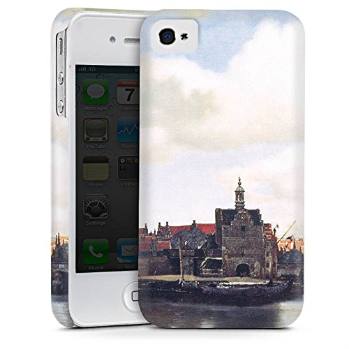Apple iPhone 5s Housse Étui Protection Coque Jan Vermeer Tableau Art Cas Premium mat