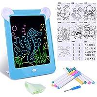Tableta de Escritura LED Pizarra Mágico con Luz para Niños, Tablero de Dibujo Mágico con Luces, Juguete Educativo Infantil Dibujo de Graffiti Luminoso, Creativa Pizarra con 10 Tarjeta de Graffiti,Azul