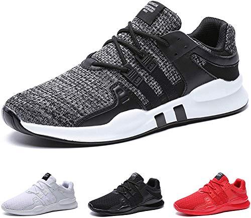 BAOLESME Herren Sportschuhe Atmungsaktiv Gym Laufschuhe Leichtgewicht Turnschuhe Freizeit Outdoor Sneaker, Grau, 45 EU