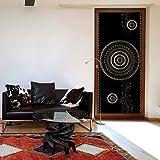 murando - Türtapete XXL 100x210 cm - Vliesleinwand - Fototapete - Tapete - Türpanel - Türposter Tür Dekoration - Foto Bild Design Ornament Mandala schwarz gold a-A-0290-a-b