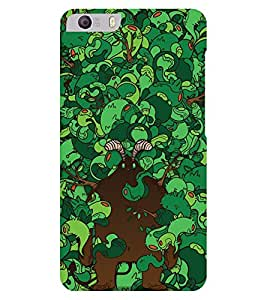 Chiraiyaa Designer Printed Premium Back Cover Case for Micromax Canvas Knight 2 E471 (green pattern) (Multicolor)