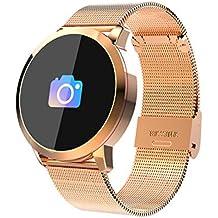 Smart watch Correa de Acero, Reloj Inteligente táctil, Largo Tiempo de Espera, presión