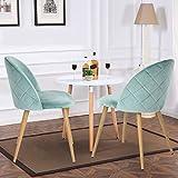 Set von 2 Esszimmer Stuhl Kaffee Stuhl Coavas Samt Kissen Sitz und R¨¹cken K¨¹che St¨¹hle mit stabilen Metall Beine f¨¹r Ess-und Wohnzimmer - 3
