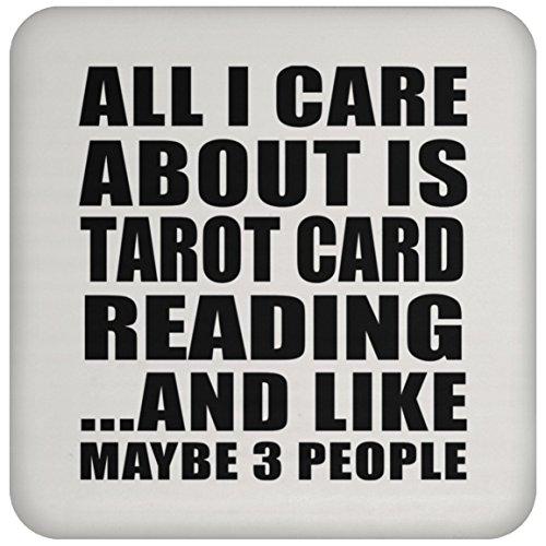 All I Care About Is Tarot Card Reading - Drink Coaster Untersetzer Rutschfest Rückseite aus Kork - Geschenk zum Geburtstag Jahrestag Muttertag Vatertag Ostern