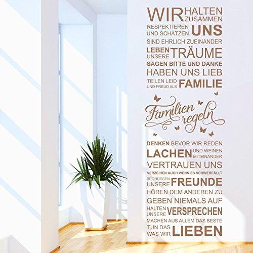 Wandtattoo Unsere Familienregeln | Hausordnung. In diesem Haus wird... Spruch Familie Schwarz 070 172 x 60 cm (HxB)