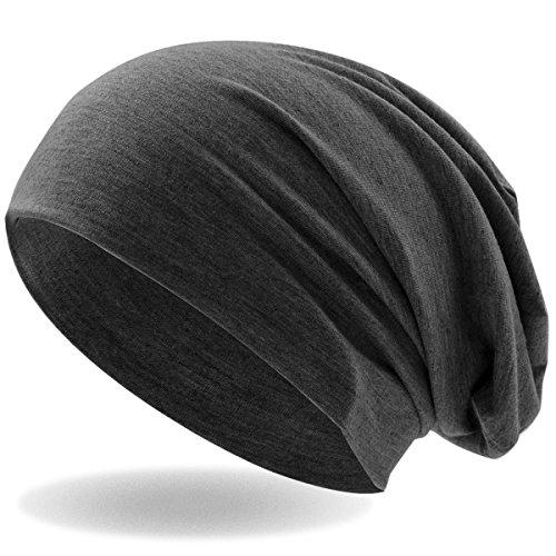 Hatstar Klassische Slouch Long Beanie Mütze, leicht und weich, für Damen und Herren (Dunkelgrau)
