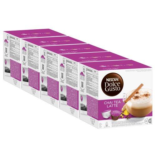 Nescafé Dolce Gusto Chai Tea Latte, Tee, Teekapsel, 5er Pack, 5 x 16 Kapseln (40 Portionen) (Chai-tee Gusto Dolce Kapseln)