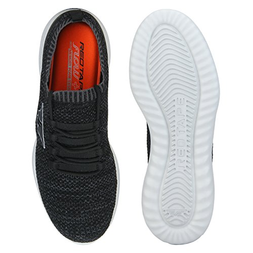 Red Tape Mens Black Running Shoes Online Sale India