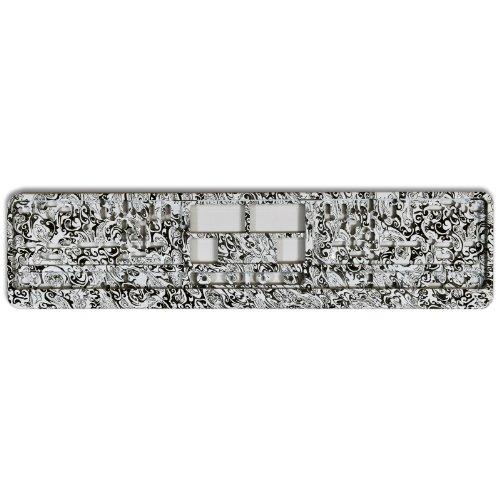 KFZ Kennzeichenhalter Design Nummernschildhalter (Black & White - 40003)