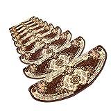 JIAJUAN-Treppenmatte Teppich Treppen Rutschfest Weich Klebstoff Solide Holz Treppe Schutz Pads, 8mm, 3 Farben, 4 Größen, Anpassen (Farbe : Brown-1 pcs, größe : 65x24x3cm)