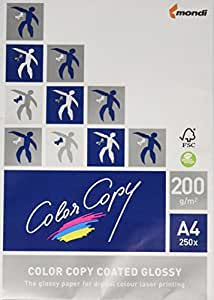 Color Copy 19847  Color gloss copy Papier brillant A4 pour laser couleur 200 g Ramette 250 feuilles Blanc