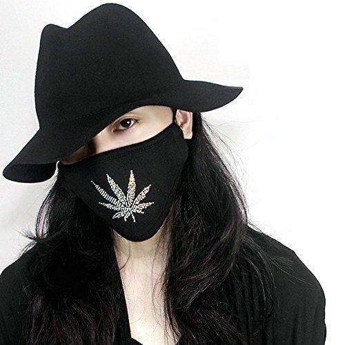 Anti Verschmutzung Maske waschbar Baumwolle Mund Masken Austauschbare Filter (1Maske + 2Filter)