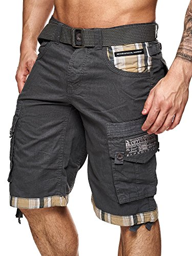 Geographical Norway Herren Cargo Short Priority in Grau Größe L