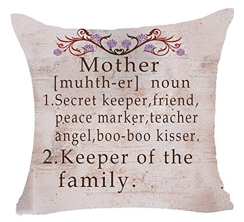 Hectwya Elegant Retro Style Mother Secret Keeper Friend Peace Marker Teacher Angel Keeper of The Family Cotton