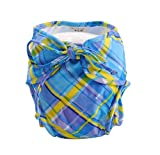 [Checkered] Einstellbare Säuglings-Schwimmen-Windel mit Krawatten, Größe Medium