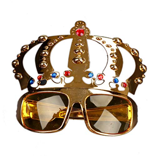 Party Masks - Crown With Jewel Costume Glasses Electroplating Sunglasses Birthday Gift Decoration - Game Party Jewels Crown Party Masks Glassese Gold Shell Baby Crown Logo Sunglass Pendan