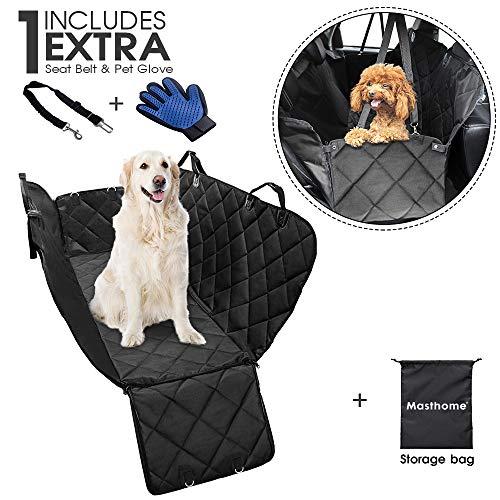 Masthome, coprisedile per Auto per Cani con 2 Cinture di Sicurezza Regolabili e 1 Guanto 2 in 1, Impermeabile, Lavabile in Lavat