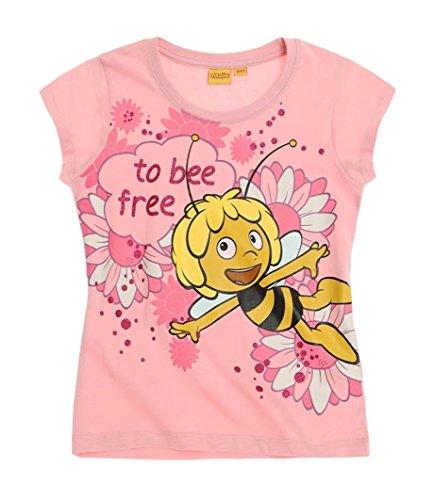 Kinder Minnie Pyjama Kostüm - Biene Maja Kollektion 2016 T-Shirt 86 92 98 104 110 116 122 128 Shirt Maya Rosa (122-128)