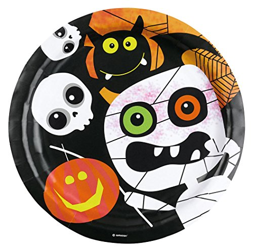 - HALLOWEEN KIDS - 23 cm, Einwegartikel Einweggeschirr Kinderparty Dekorationen Tischdeko Raumdekorationen (Halloween Türdekoration)