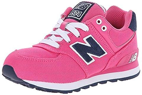 New Balance NBKL574PFP, Jungen Kids Lifestyle 574 , Pink - Pink Textile - Größe: 34.5