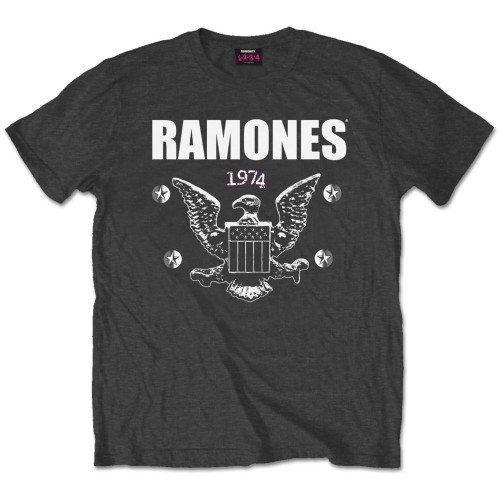 Ramones Herren T-Shirt 1974 Eagle Grau (Charcoal)