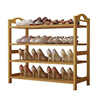 UDEAR Bamboo Shoe Rack Shoe Storage Organizer Entryway Shoe Shelf