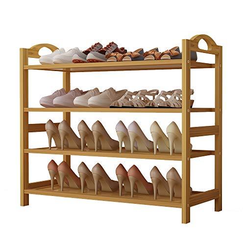 UDEAR Multiuso Zapatero de 4 Pisos estantería para Zapatos de bambú Organizador, Ideal para Entrada...