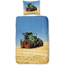 Good Morning! 4208-P, 135cm bettwäsche mit Traktor, 100 Prozent Baumwolle, Mehrfarbig, 200 x 135 x 0,5 cm