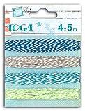 Toga RU90 4 ficelles Bicolores Baker's Twine, Bleu/Vert, 500 x 0,1 x 0,1 cm