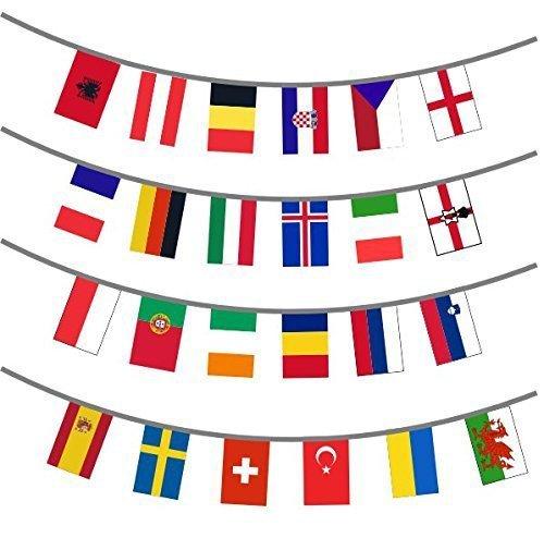 Euro 24 Länder Flagge Wimpel 8m - 24 (Fancy Dress Land)