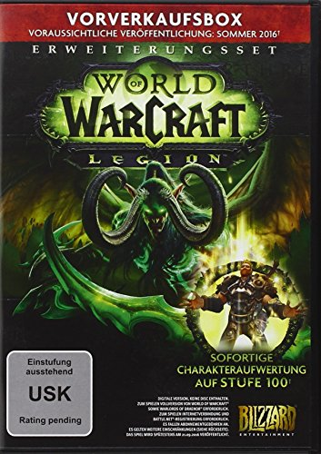 World of Warcraft: Legion (Add-On) - Vorverkaufsbox [Download-Code, kein Datenträger enthalten]