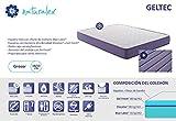 Naturalex - Matelas Geltec 140x190 cm mousse à mémoire Gel Fresh® microcapsules thermo-régulantes + Viscotex® à 7 zones